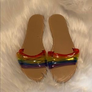 Rainbow pvc sandals